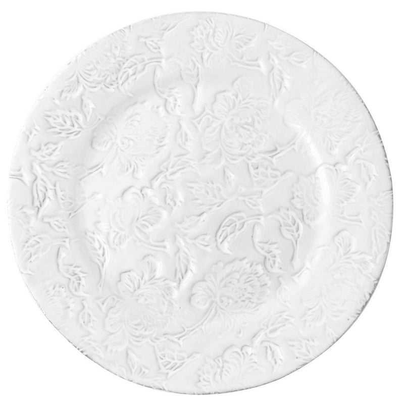 Pivoine plate-Serving plate ⌀33 H1,8-Handmade in France by CARRON
