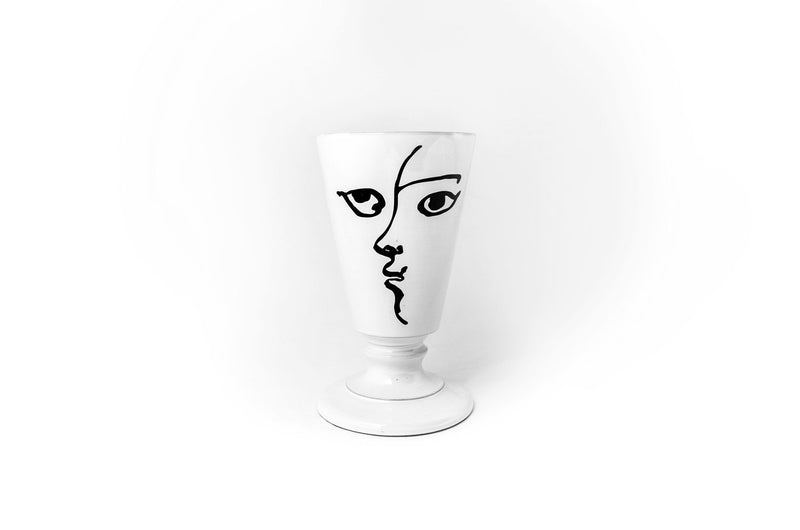 Toi et Moi footed vase-Handmade in France by CARRON