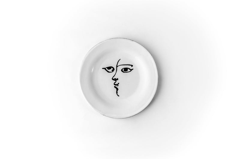 Toi et moi plate-Dessert plate ⌀18-Handmade in France by CARRON