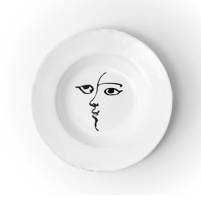 Toi et moi plate-Dessert plate ⌀20 H1-Handmade in France by CARRON