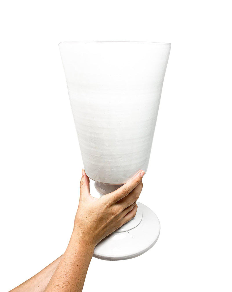 Paris footed vase-L (20x20x42cm)-CARRON-Paris