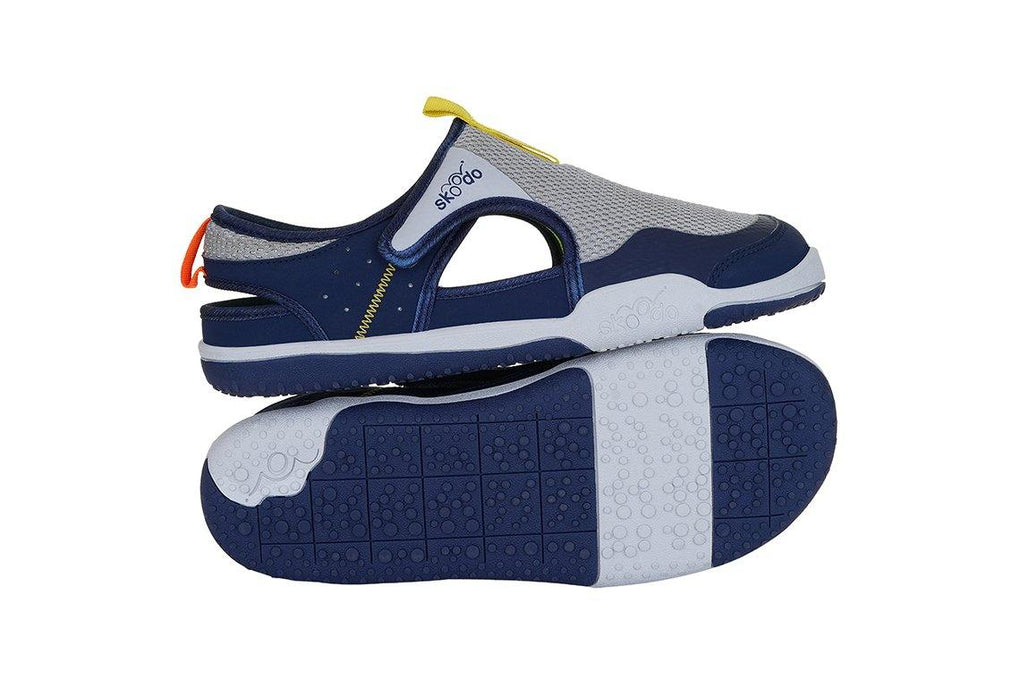 WINGER GLIDE | Steel Grey-Navy - Combo with Personalised Stamp (PRE-PAID ONLY) - Skoodo