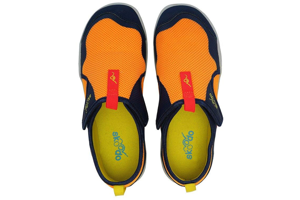 WINGER FLY | Fiery Orange-Navy - Skoodo