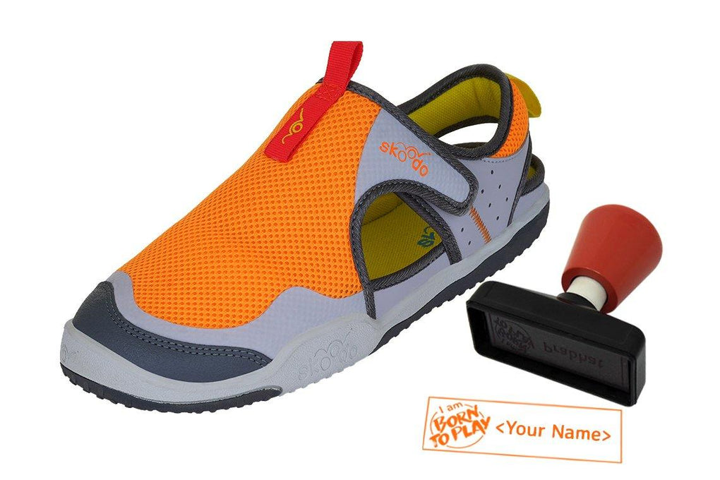 WINGER GLIDE | Fiery Orange-Grey - Combo with Personalised Stamp (PRE-PAID ONLY)