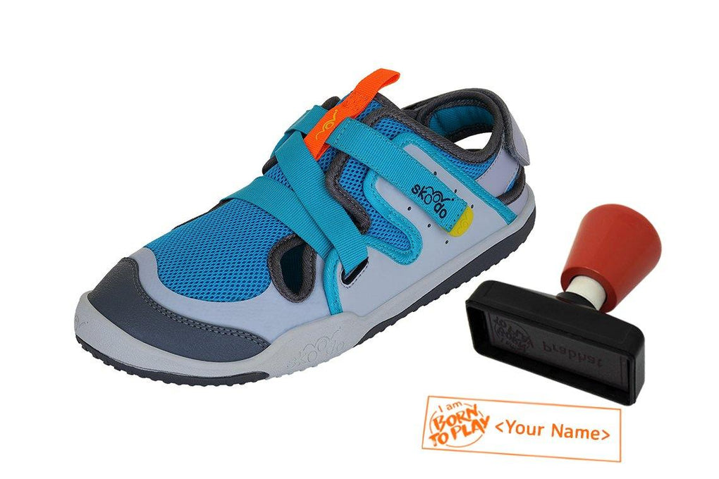 ZIGGIE ZAG | Neptune Blue-Grey - Combo with Personalised Stamp (PRE-PAID ONLY) - Skoodo