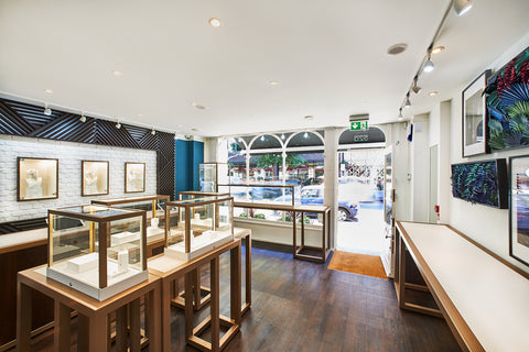 Lark and Berry cultured diamonds jewellery store interior