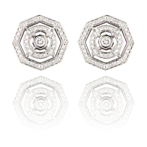 Lark & Berry's Octagonal Stud Earrings