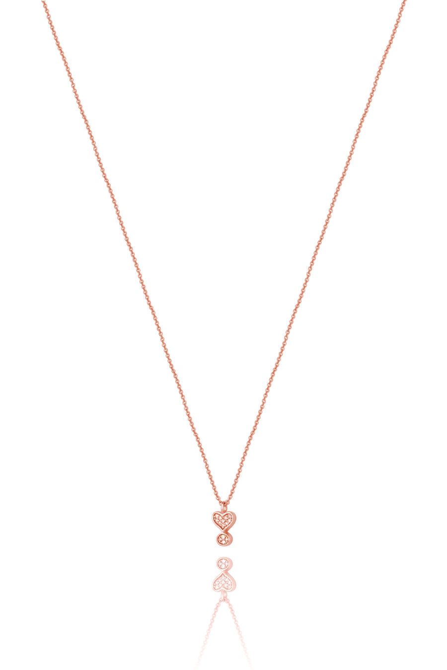 Lark & Berry's Exclamation Diamond Pave Pendant with 14K rose gold and lab-created diamonds.