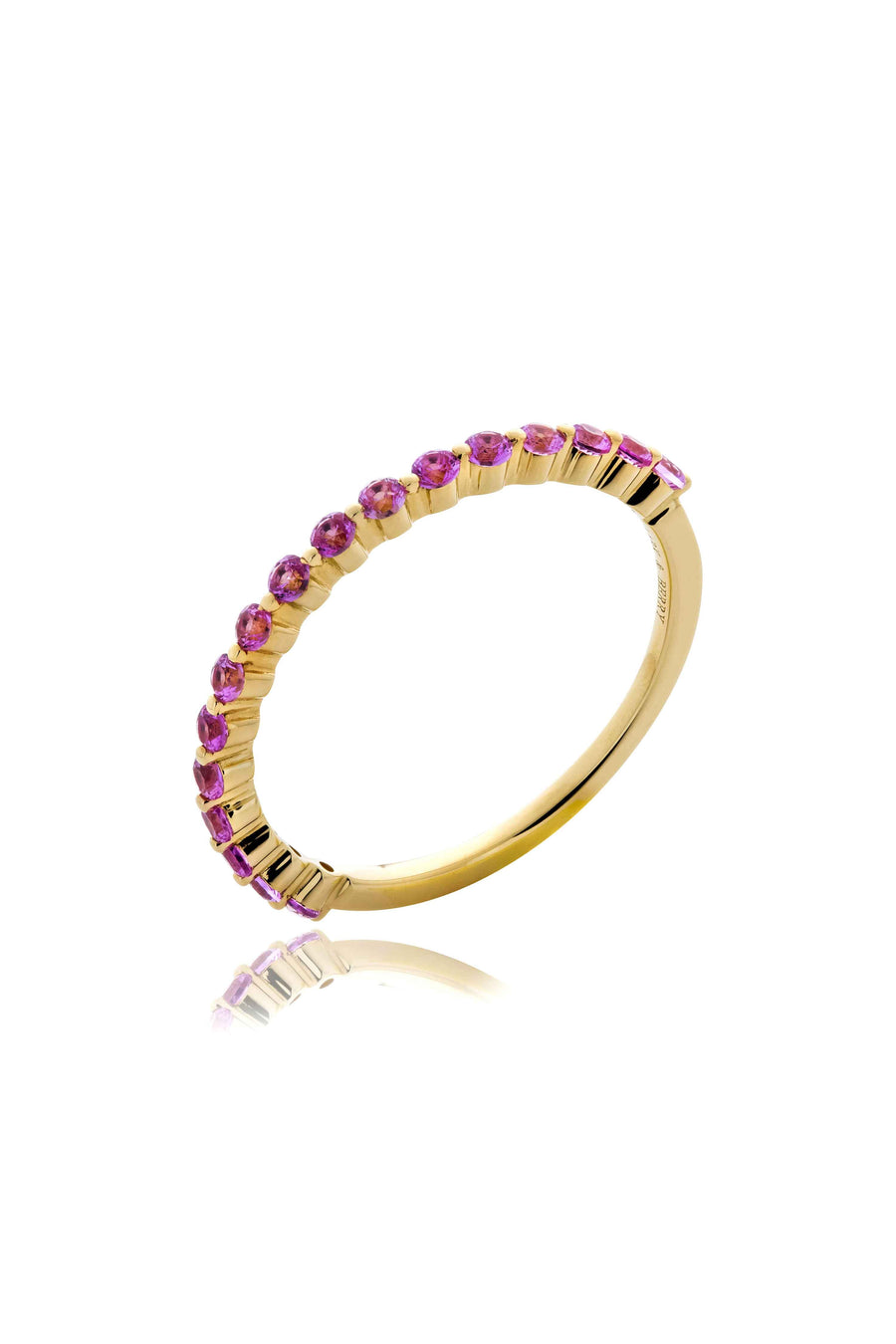 Modernist Stackable Pink Sapphire Ring in 14K Gold