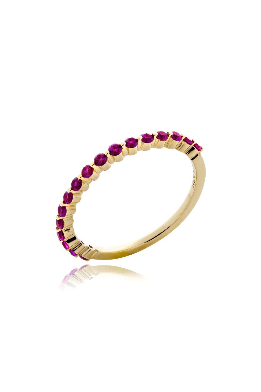Modernist Stackable Ruby Ring in 14K Gold