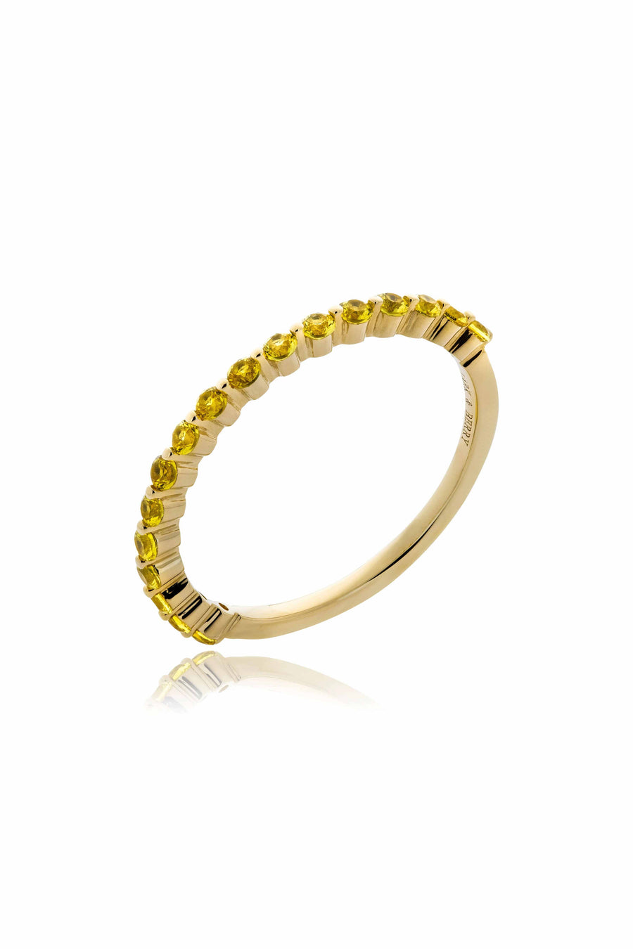 Modernist Stackable Yellow Sapphire Ring in 14K Gold