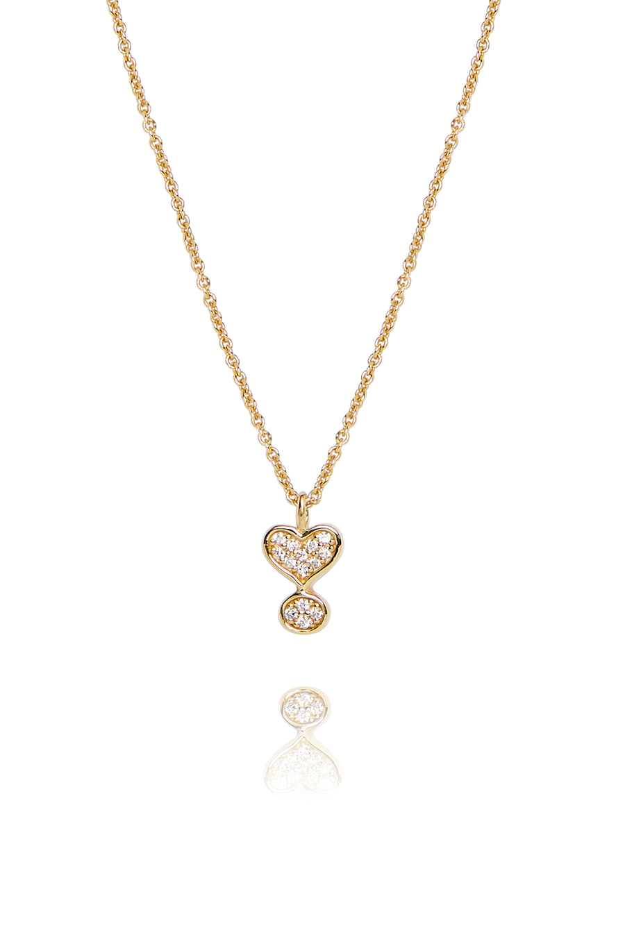 Lark & Berry's Exclamation Diamond Pave Pendant with 14K yellow gold and lab-created diamonds.