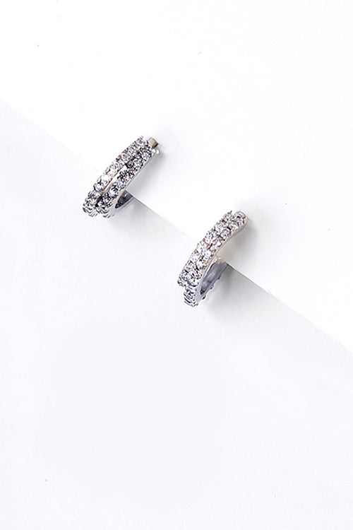 Double Love Miniature Hoop Earrings