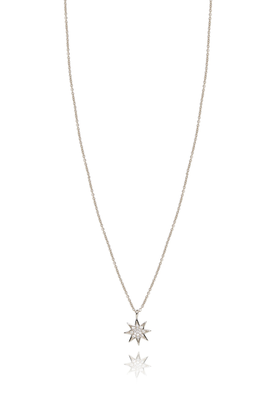 Silver and Diamonds Star Pendant