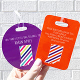 Striped State Luggage Tag