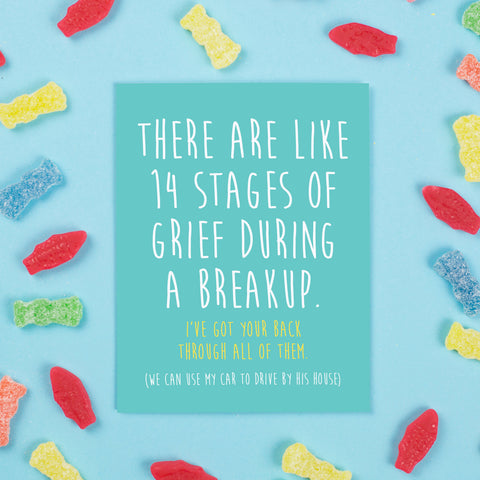14 Stages of Grief Card