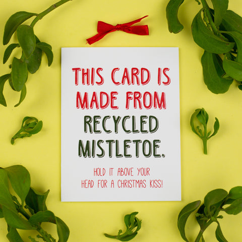 Recycled Mistletoe Card