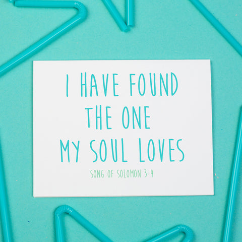 One My Soul Loves Card