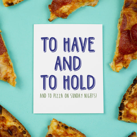 Sunday Night Pizza Card