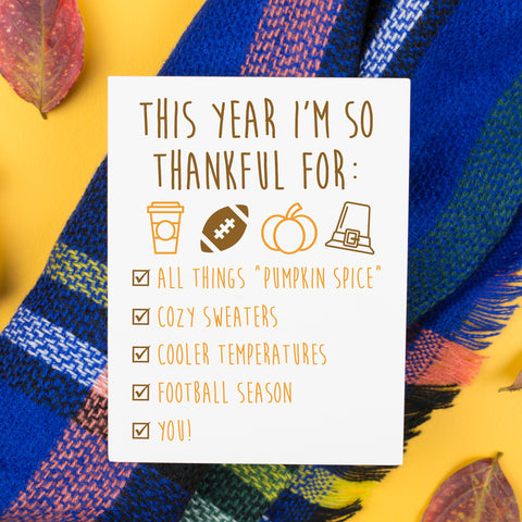 Thankful For Card
