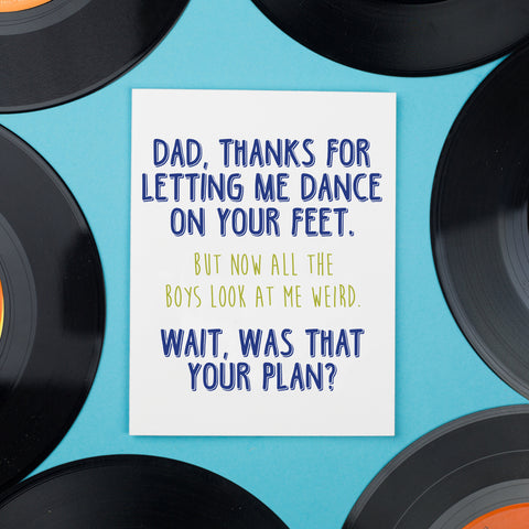 Dad Dancing Card