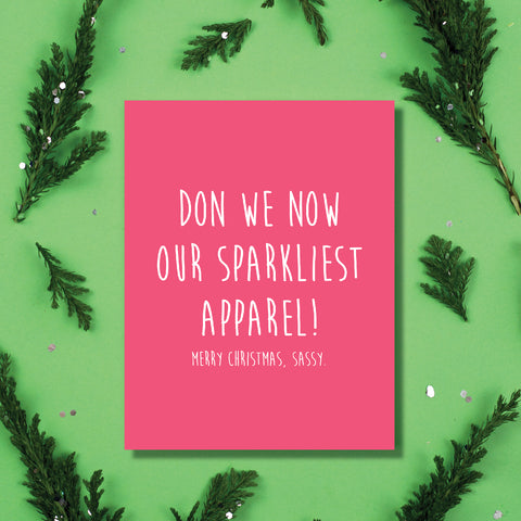 Sparkly Apparel Card