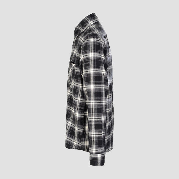 Off-White Stencil Flannel Check Shirt - Original Allure