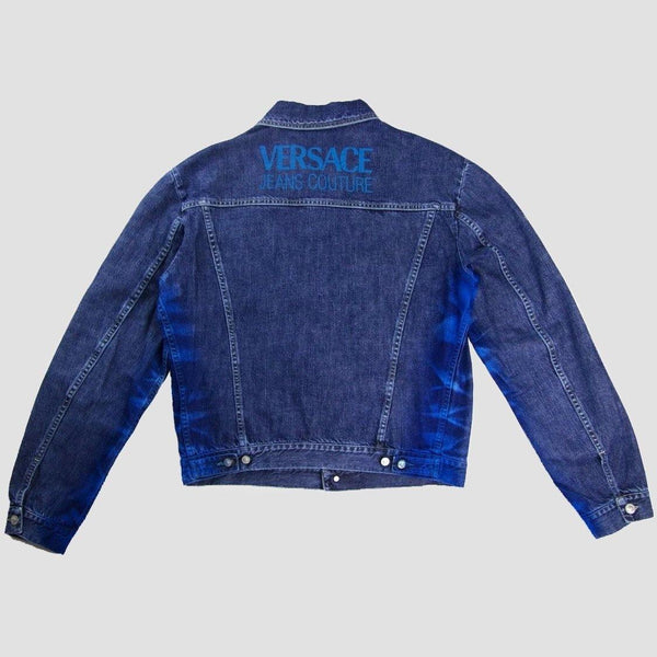 Versace Spell out denim jacket - Original Allure
