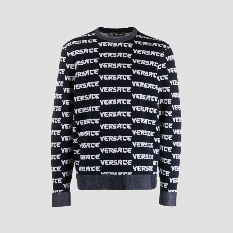 Versace Knit Spell Out Jumper - Original Allure