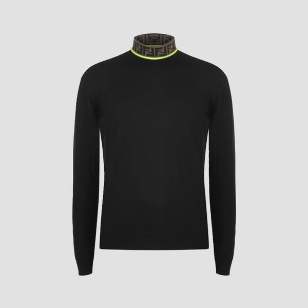 Fendi Lupetto Knit Merino Roll Neck Jumper - Original Allure