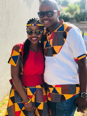 Red kente  chin shirt R1200