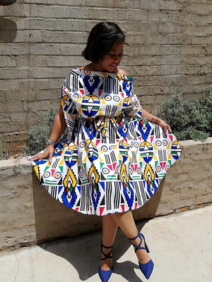Modern Nguni statement dress