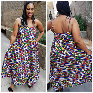 Modern Ndebele flowing dress