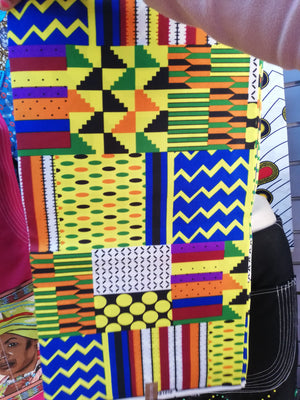 Yellow patch patch Kente