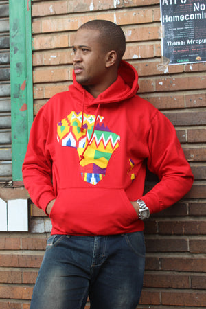 Father's day Africa map hoodie red