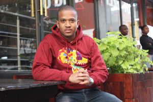 Father's day Africa map hoodie maroon