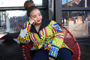 Ankara reversible jacket patch patch