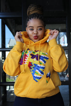 Yellow Hoodie Africa map