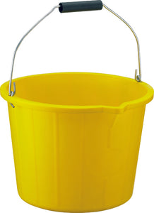 Bucket   3 Gallon Yellow Heavy Duty
