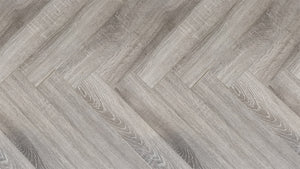 Canadia Wood Block Platinum Grey Herringbone