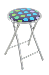 Dotty Padded Folding Stool