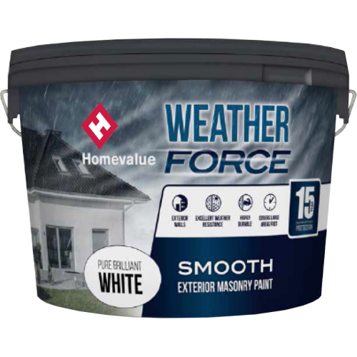Homevalue Masonry Paint 10L White