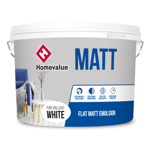 Homevalue Matt Emulsion Paint 10L White