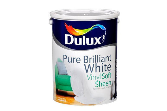 Dulux Vinyl Soft Sheen Pure Brilliant White  5L