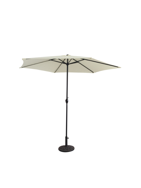 2.7m Cream Parasol With Crank