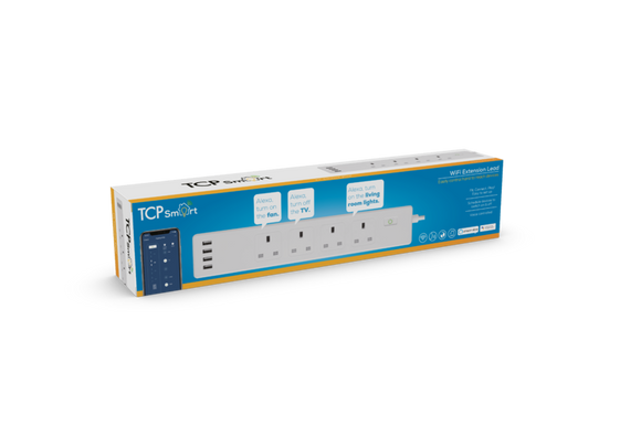 TCP Smart 4 Way 1.8m Extension Lead plus 4USB