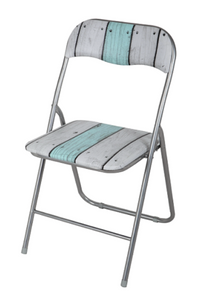 Stripe Padded Folding Chair