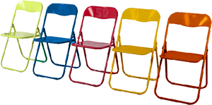 Power Coated All Steel Mixed Colours Chair (Red,Blue,Orange,Yell
