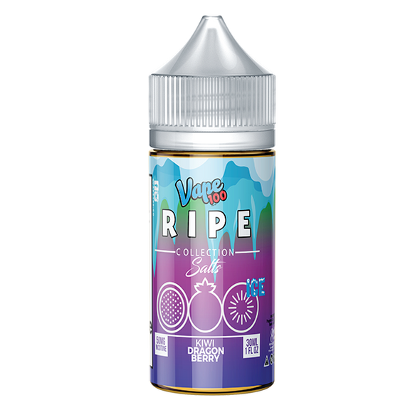 Kiwi Dragon Berry on Ice Nic Salt By Vape 100 Ripe Collection on Ice