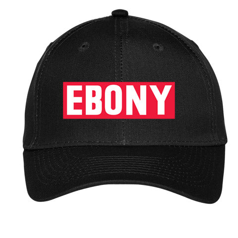 EBONY THROWBACK LOGO COLLECTION - CAP IN BLACK OR WHITE